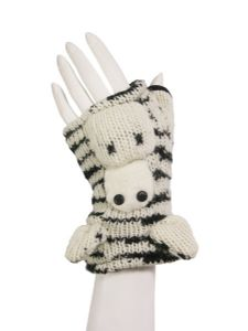 Animal Gloves~Funky Hippy Zebra Animal Arm Warmers/Tube Gloves~Fair Trade by Folio Gothic Hippy~NG3Z